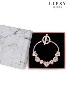 Lipsy Jewellery Crystal Charm Bracelet