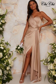 Chi Chi London Tasha One Shoulder Maxi Dress