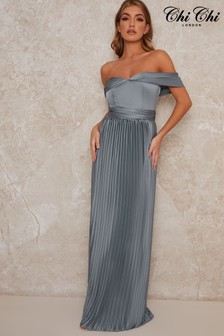 Chi Chi London Lauren Pleated Maxi Dress