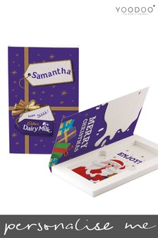 Personalised 200g Cadbury Dairy Milk Christmas Chocolate Card by Yoodoo