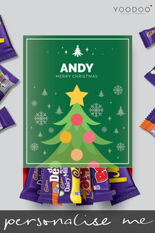 Personalised Christmas Tree Cadbury Mixed Favourites Box by Yoodoo
