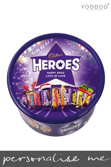 Personalised 580g Cadbury Heroes Tub by Yoodoo