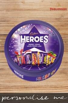 Personalised 580g Christmas Cadbury Heroes Tin by Yoodoo