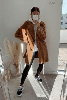 Little Mistress Beckton Oversized Teddy Coat