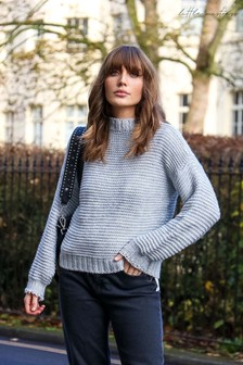 Little Mistress Chunky Cable Knit Jumper