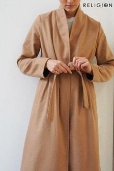 Religion Noirex Wrap Coat