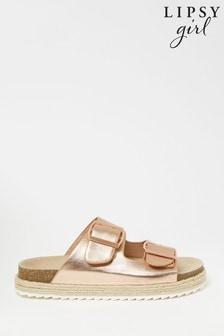 Lipsy Double Strap Footbed Sandal (Older)