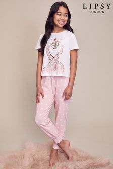 Lipsy Short Sleeve Long Leg Pyjama Set
