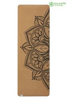 Gaiam 5mm Yoga Mat Cork Mandala