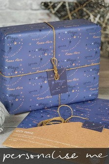 Personalised Christmas Gift Wrap & Tags by Izzy Rose