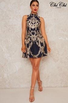 Chi Chi London Elexa Jaquard Dress
