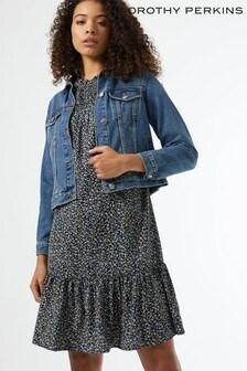 Dorothy Perkins Tall Ditsy Shirred Neck Mini Dress
