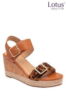 Lotus Footwear Primrose Buckle Strap Wedge Sandal