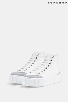 Topshop Chive High Top Trainer