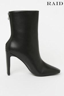 Raid PU Heeled Ankle Boots