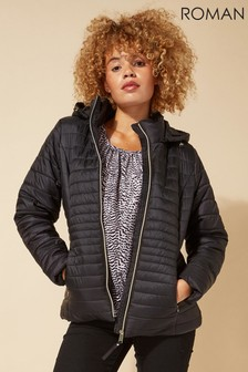 Roman Originals Hooded Zip Through Padded Coat