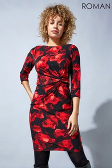Roman Originals Floral Twist Waist Dress