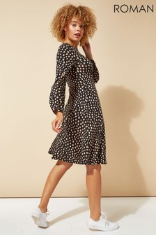 Roman Pebble Spot Print Tea Dress
