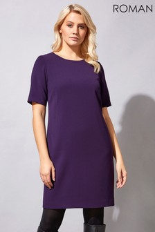 Roman Short Sleeve Shift Dress