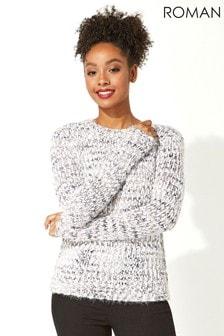 Roman Originals Fluffy Yarn Knitted Jumper
