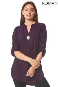 Roman Longline Button Detail Tunic Top