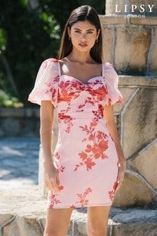 Lipsy Puff Sleeve Mini Dress