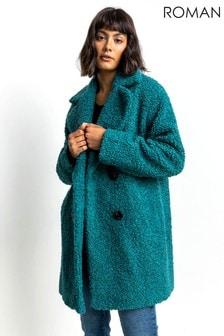 Roman Faux Fur Longline Teddy Coat