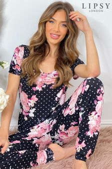 Lipsy Jersey Printed Short Sleeve Pyjama set