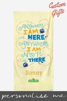 Personalised Sesame Street Beach Towel by Custom Gifts