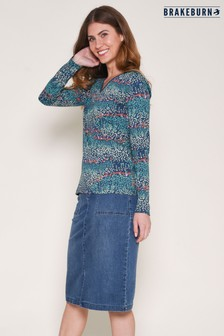 Brakeburn Heather V neck Top