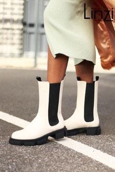 Linzi Nappa Long Chelsea Boot With Chunky Sole