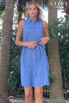 Lipsy Tie Waist Printed Shirt Dress