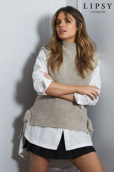 Lipsy Sleeveless Knit Vest With Tie Side Details