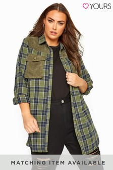 Yours Curve Co-Ord Check Shirt