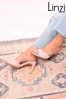 Linzi Suede Mule With Stiletto Heel