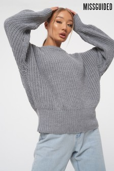 Missguided Chunky Crew Neck Jumper