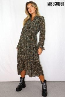 Missguided Ditsy Printed Midi Dress