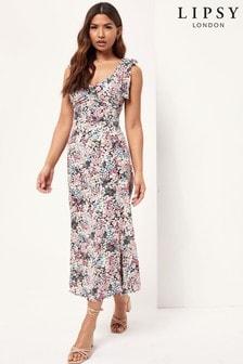 Lipsy Tie Strap Midi Dress