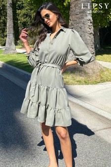 Lipsy Tiered Supersoft Shirtdress