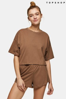 Topshop Branded Boxy Long Sleeve Pj Set
