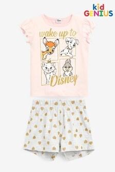Kid Genius Short Sleeve Wake Up To Disney PJ Set
