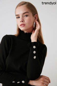 Trendyol Roll Neck With Detail Button Sleeve