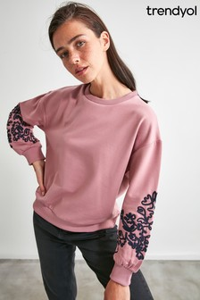 Trendyol Jumper With Embroidery Sleeve