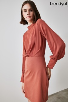 Trendyol Stand Collar A Line Dress