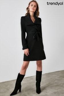 Trendyol Belted Neck Detailed Dress