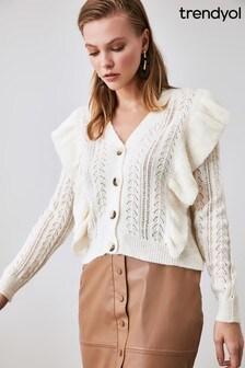 Little Mistress x Trendyol Ruffle Detail Knit Cardigan