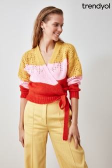 Trendyol Double Breasted Colour Block Knitwear Cardigan