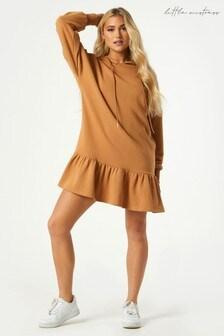 Little Mistress Sohan Ruched Hoodie Sweatshirt Dress