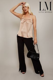 Little Mistress Forever Split Hem Boot Cut Tailored Trousers