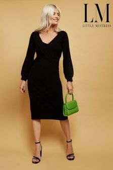 Little Mistress Philosophy Bardot Knit Mini Dress